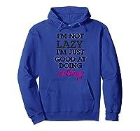 Not Lazy T-shirt Hoodie Royal Blue