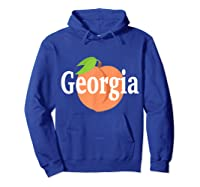 Georgia Peach State Pride Southern Roots T Shirt Hoodie Royal Blue