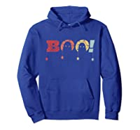Funny Boo Halloween Costume Spiders Ghost Scary Vintage Gift T-shirt Hoodie Royal Blue