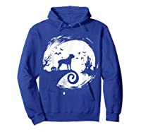 Cane Corso Halloween Costume Moon Silhouette Creepy T-shirt Hoodie Royal Blue