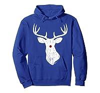 Vintage Christmas Reindeer T Shirt Hoodie Royal Blue