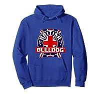 British Bulldog Flag Graphic Shirts Hoodie Royal Blue
