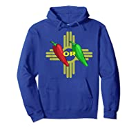 Red Or Green Chile Hatch New Mexico Zia Shirts Hoodie Royal Blue