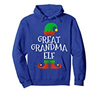 Great Grandma Elf Christmas Funny Xmas Gift Shirts Hoodie Royal Blue