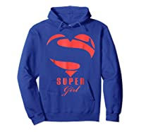 Super Girl Superhero Girl Gift Mother Father Day Shirts Hoodie Royal Blue