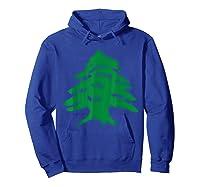 Lebanon Flag Cedar Tree Country Middle East Shirts Hoodie Royal Blue