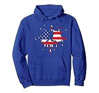 Baseball League Game Usa Flag American National Team Player Shirts Hoodie Royal Blue