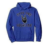 Type 1 Diabetes Diabetic Rocker Awareness Gift Shirts Hoodie Royal Blue