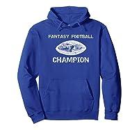 Premium Vintage Graphic Fantasy Football Champion Shirt Hoodie Royal Blue