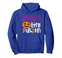 Pawpaw's Little Pumpkin Halloween Cute Pumpkin Gifts Shirts Hoodie Royal Blue