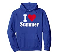 Love Summer Shirts Hoodie Royal Blue