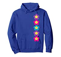 Daisy Flower Pattern Happy, Fun, Bright And Colorful Shirts Hoodie Royal Blue