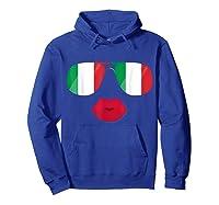 Flag Italia Sunglasses Lips Italian Flags Italy Shirts Hoodie Royal Blue