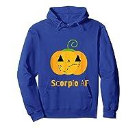 Scorpio Af Zodiac Constellation T-shirt Hoodie Royal Blue