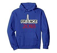France Soccer Football Team Fan Flag Shirts Hoodie Royal Blue
