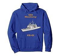 Monterey Cg 61 Navy Sailor Veteran Gift Shirts Hoodie Royal Blue