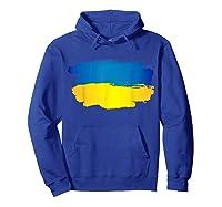 Ukraine Flag Paint Style T-shirt Hoodie Royal Blue