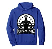 Grand Arte: King Me Boxing T-shirt Hoodie Royal Blue