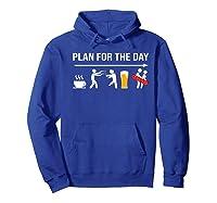 Zombie Hunter Adult Humor Halloween Premium T-shirt Hoodie Royal Blue