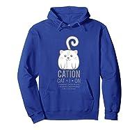 Funny Kitty Kitten Cat Science Chemistry Tea Shirts Hoodie Royal Blue
