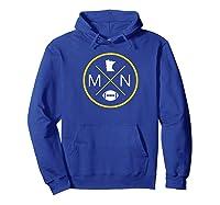 Minnesota Football Mn State Map Outline Shirts Hoodie Royal Blue