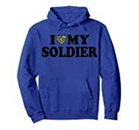 Love My Soldier Army Multicam Camo Camouflage Heart Shirts Hoodie Royal Blue