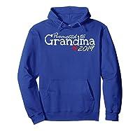 Promoted To Grandma 2019 Tshirt Hoodie Royal Blue
