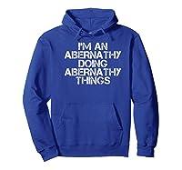 Abernathy Funny Surname Family Tree Birthday Reunion Gift Premium T-shirt Hoodie Royal Blue