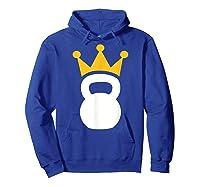 Kettlebell Crown T-shirt Hoodie Royal Blue