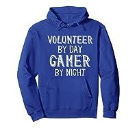 Volunteer By Day Gamer By Night Premium T-shirt Hoodie Royal Blue
