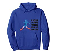 Soccer T-shirt For With Quote Hoodie Royal Blue