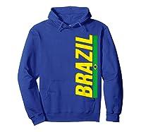 Brazil T-shirt Brazilian Flag Brasil Gift Souvenir Camiseta Hoodie Royal Blue