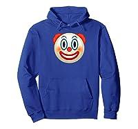 Cool Graphic Design Clown Emoji Face Funny Shirts Hoodie Royal Blue