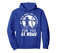 Baseball Mom Apparel Baseball Dad Merchandise Premium T-shirt Hoodie Royal Blue