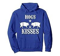 Kisses Graphic Shirts Hoodie Royal Blue