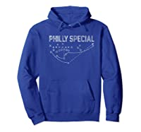 Philly Special Distressed Shirts Hoodie Royal Blue