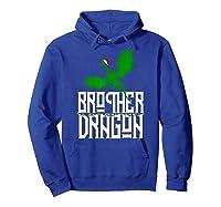 Brother Dragon Christmas Shirt Matching Family Tribe Son Boy T-shirt Hoodie Royal Blue