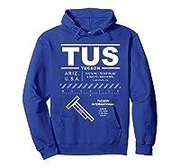 Tucson International Airport Arizona Tus T-shirt Hoodie Royal Blue