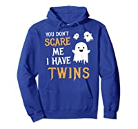 Funny Parents Of Twins Shirt Halloween Gift Hoodie Royal Blue