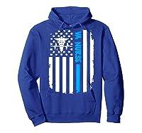 Va Nurse Distressed American Flag Short Sleeve Tshirt Hoodie Royal Blue