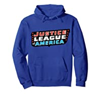 Justice League Logo Jla Classic 01 Shirts Hoodie Royal Blue