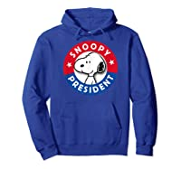 Peanuts Snoopy For President Shirts Hoodie Royal Blue