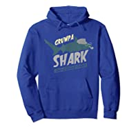 Grumpa Shark Doo Doo Funny Grandpa Father\\\'s Day Gift T-shirt Hoodie Royal Blue