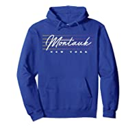 Monta Nostalgic Retro Style New York T-shirt Hoodie Royal Blue