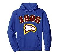 Winthrop 1886 University Apparel Shirts Hoodie Royal Blue