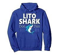 S Lito Shark Gift T-shirt Hoodie Royal Blue