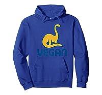 Vegan Dinosaur Shirts Hoodie Royal Blue