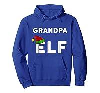 Matching Christmas Elf Grandpa Elf Shirts Hoodie Royal Blue