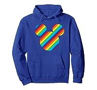 Mickey Mouse Rainbow Icon Shirts Hoodie Royal Blue