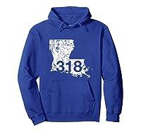 Shreveport Ruston Tallulah Area Code 318, Louisiana Shirts Hoodie Royal Blue